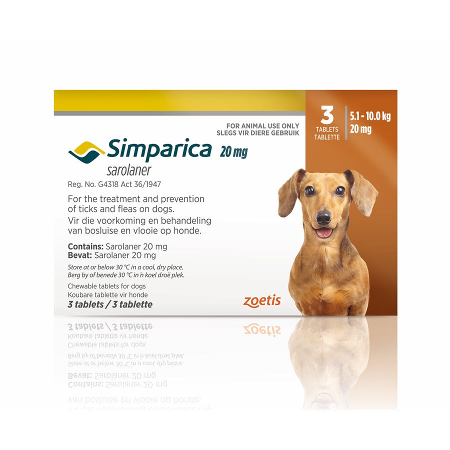 Simparica Chewable Tablets for Dogs 5.1-10.0kg