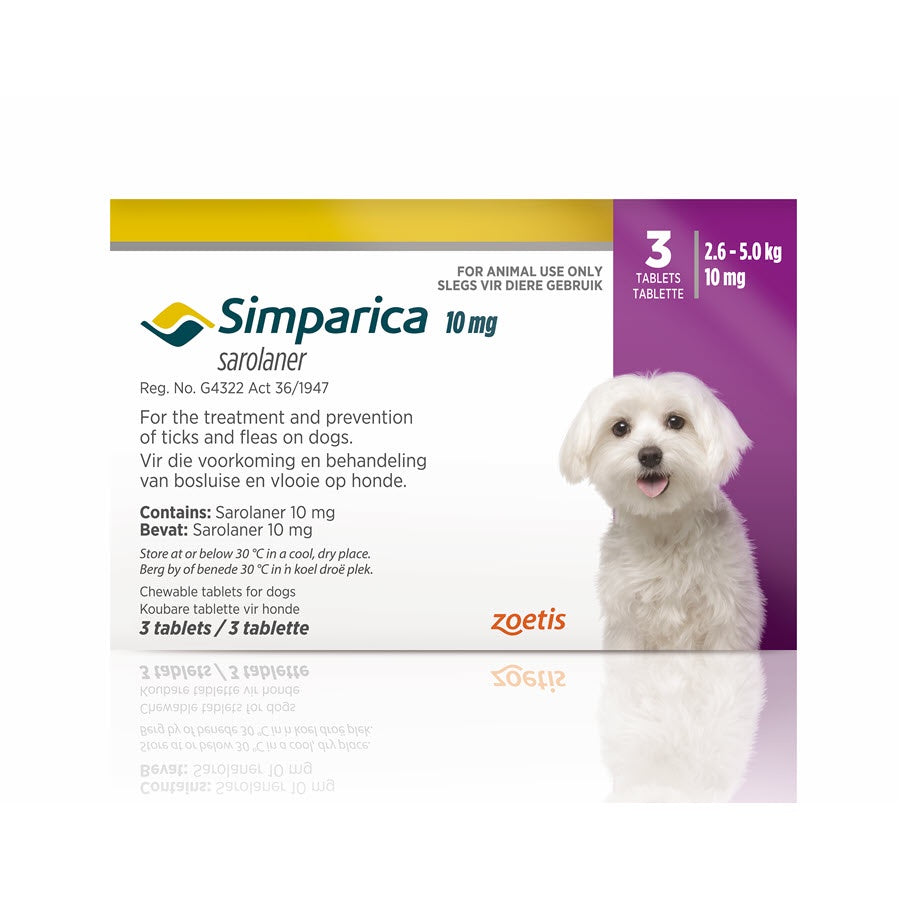 Simparica Chewable Tablets for Dogs 2.6-5.0kg