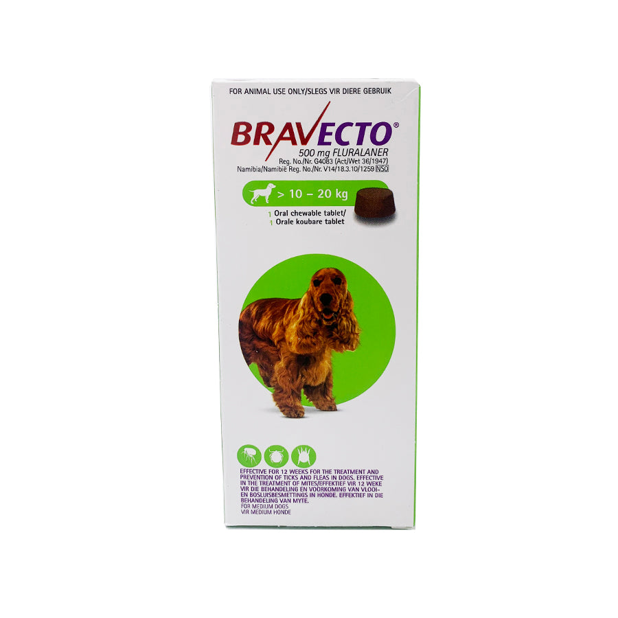 Bravecto Chewable Tablet for Dogs - Medium 10-20kg