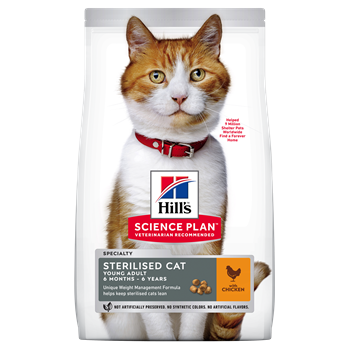 Hills Feline Sterilised Cat Young Adult Chicken Cat Food