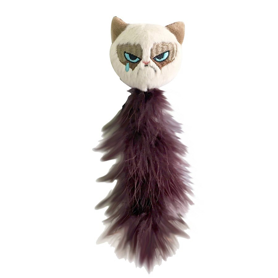 Grumpy Cat Feather Tail Cat Toy