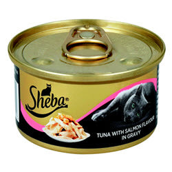 Sheba Tuna with Salmon Flavour Gravy Cat Food