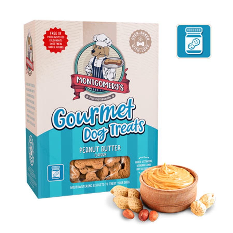 Montgomery's Gourmet Peanut Butter Dog Biscuit Treats