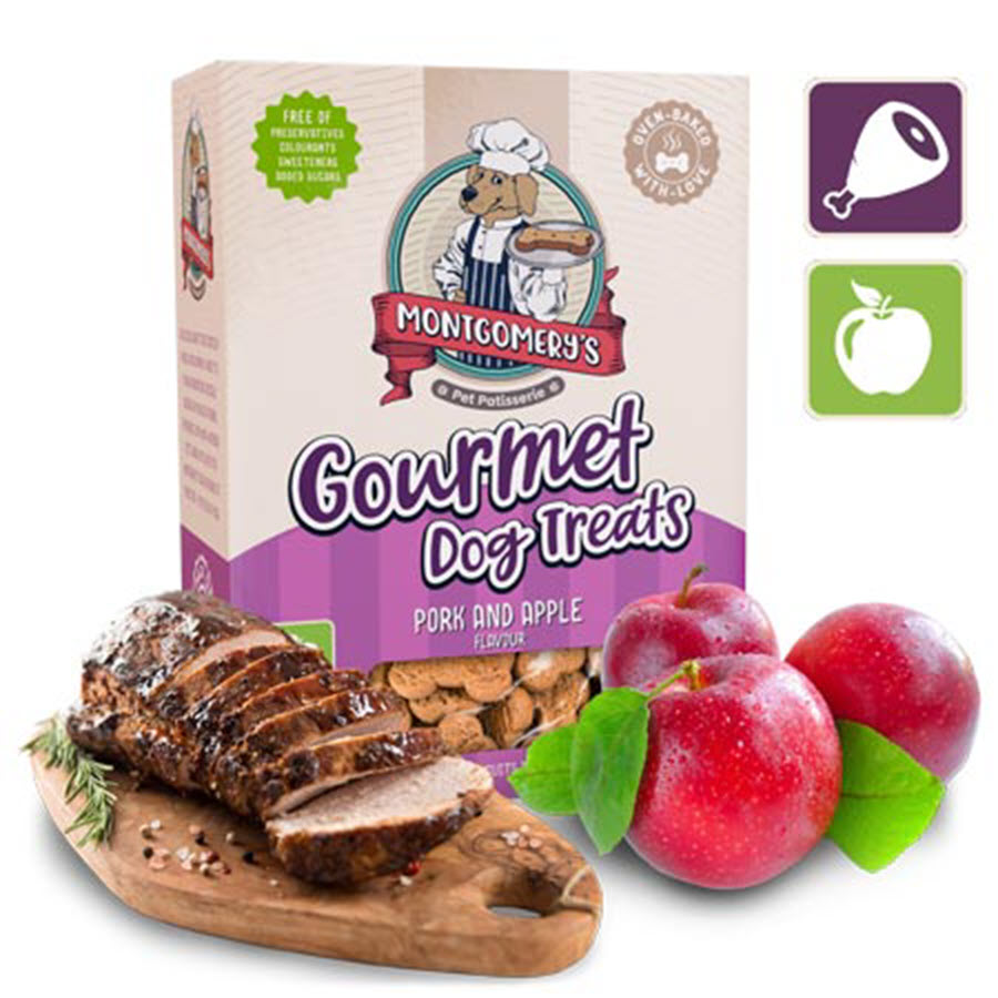 Montgomery's Gourmet Pork & Apple Dog Biscuit Treats