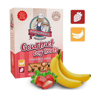 Montgomery's Gourmet Strawberry & Banana Dog Biscuit Treats