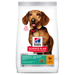 Hills Canine Perfect Weight Adult Small and Mini Chicken Dog Food
