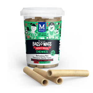 Montego Bags O Wags Refreshing Mint Flavoured Dental Tubes for Puppies