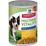 Hills Canine Youthful Vitality 7 plus 354g Can Chicken and Veg