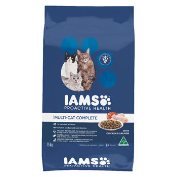 Iams MultiCat with Chicken & Salmon Cat Food