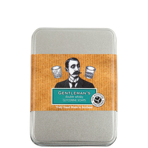 ME005 Gentleman's Double Whisky & Oatmeal Soap Tin 2 x 140g