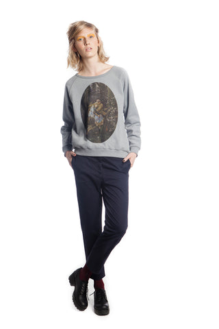 MADONNA IVAN AND WOLF monument-grey sweatshirt