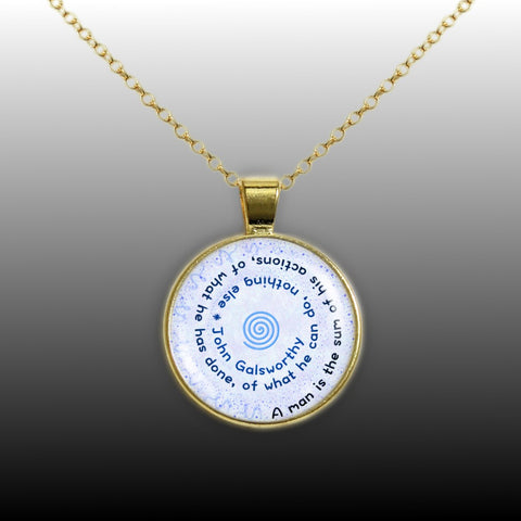 Arthwick Store Start Your Day with a Smile Quote Illustration Pendant Necklace