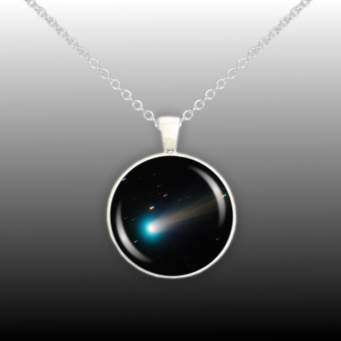 Pendants tagged solar system autumns glory sun grazing comet ison solar system space 1 pendant cable chain necklace in silver tone aloadofball Image collections