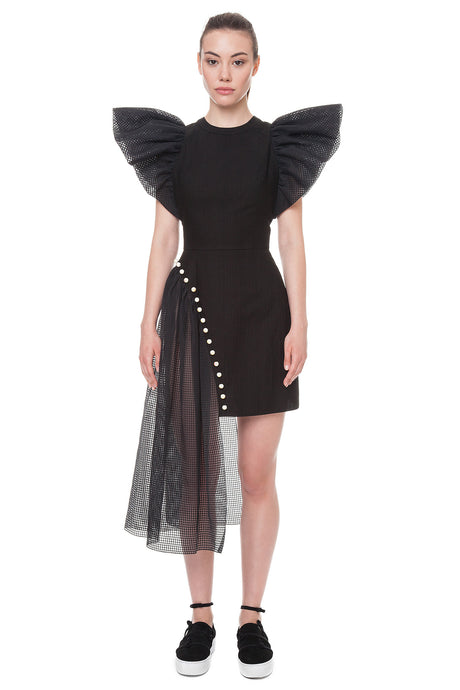 Black wings dress