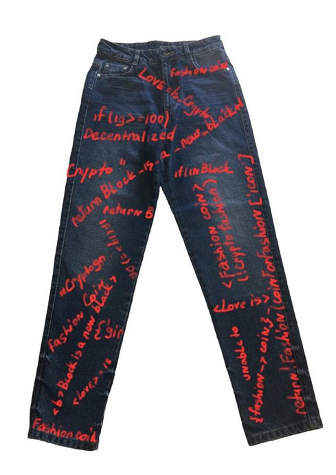 Jeans with graffiti SS18_JN07 - Anna K