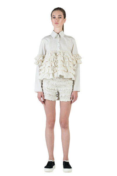 Shorts with ruffles #053