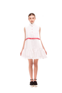 White dress with frill SS18_DR08 - Anna K