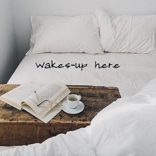 Wakes-up here