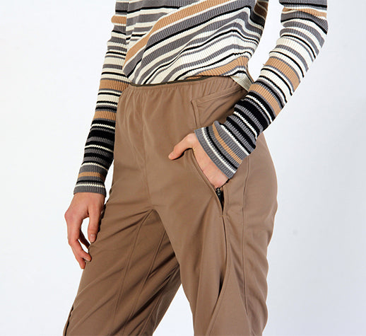 PURITY - EXCEPTIONALLY COMFORTABLE ON THE GO PANT JAVA