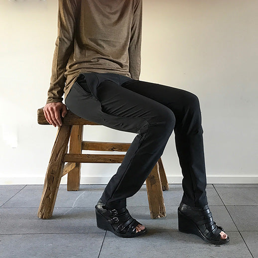 Black travel pant