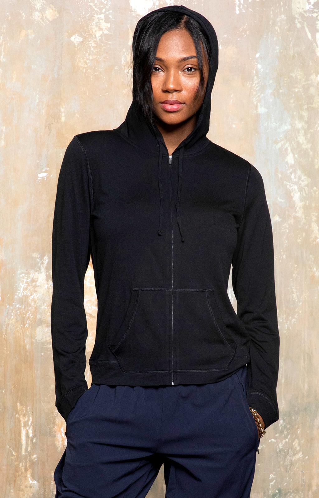 Solitude Hoodie - A Minimalist & Beautiful Updated Staple in Black