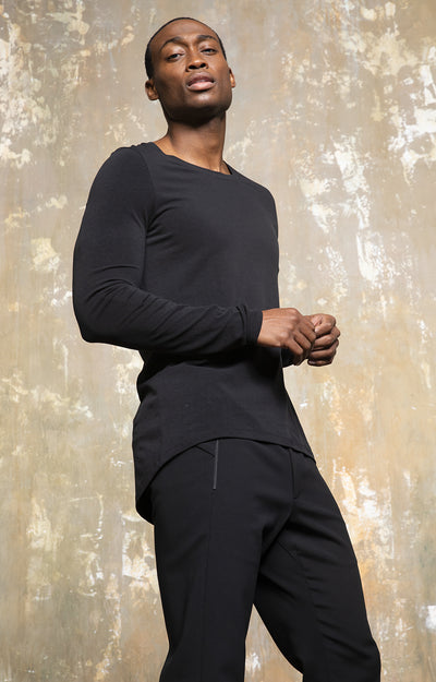 Entice - Quiet Opulence, Slim-Fit Jersey T-Shirt in Black
