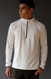 Encounter – Ultrasoft Microknit 1/4-Zip Pullover Top White