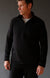 Lucid – Ultrasoft Microfleece 1/4-Zip Pullover Top Black