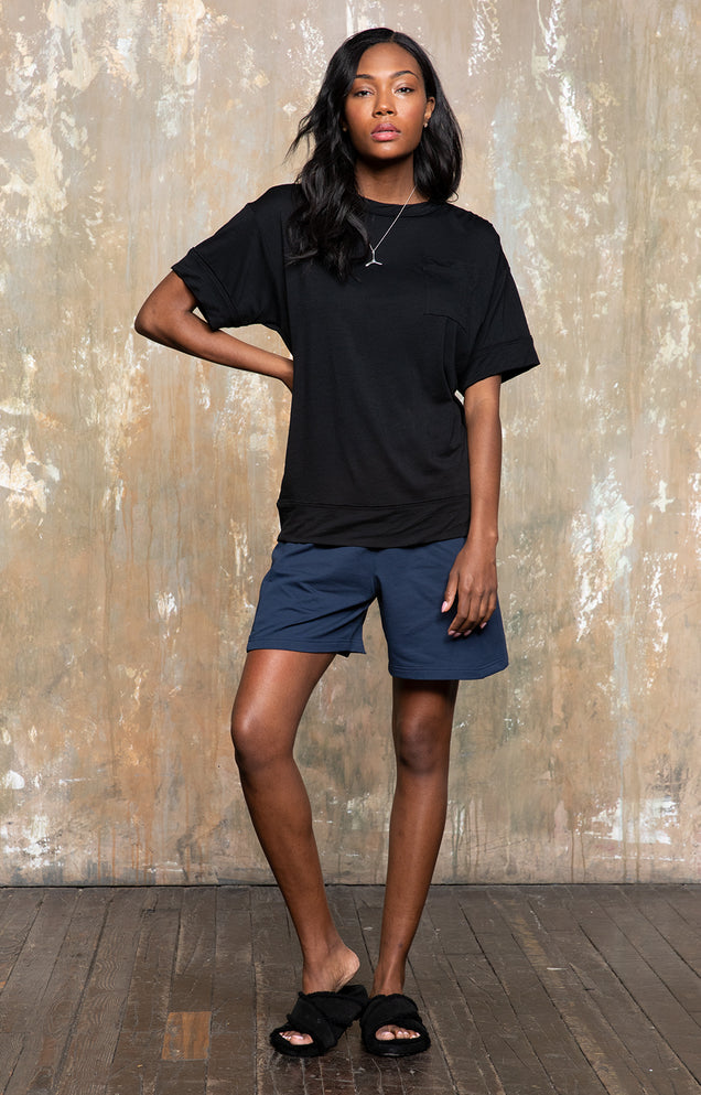 Tranquil - Effortless Merino T-shirt in Midnight