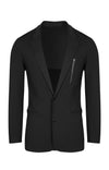 Individualist - Slim Fit Technical Travel Blazer in Black