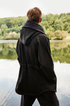 Euphoric - Modern Japanese Inspired Technical Travel Jacket in Black