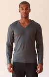 Unbounded - Zip Pocket Ultra-Soft Long Sleeve Tee Gray