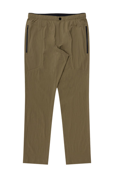 Urban - Two-In-One Zip Pocket Travel Pants in Khaki