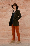 Capability  - Boyfriend Travel Blazer in Shadow Brown