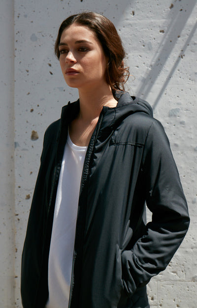 Inquisitive - Insanely Comfy, Pillow Soft Padded Shell Hoody Jacket Black