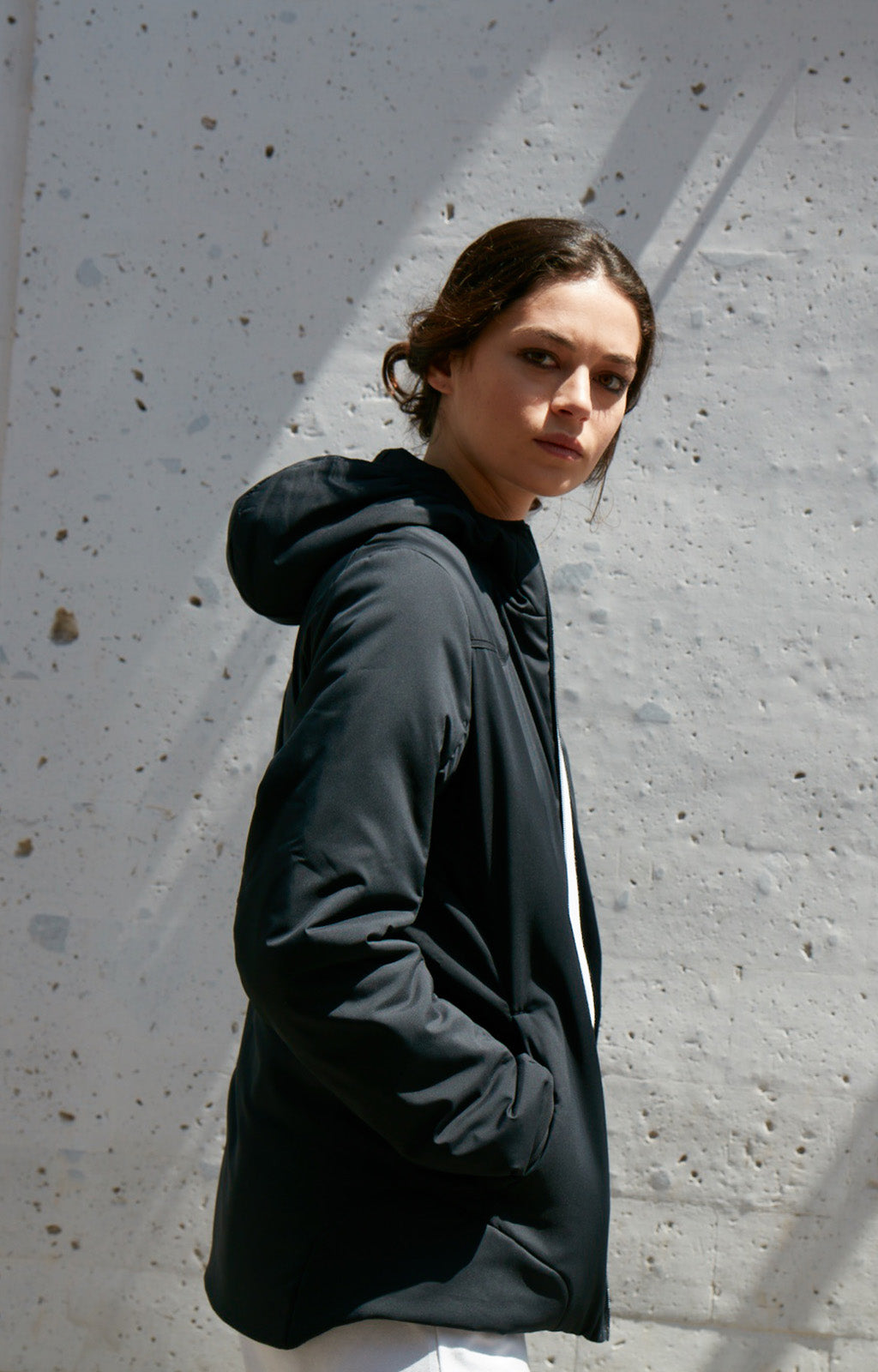 Inquisitive - Pillow Padded Hooded Jacket in Black