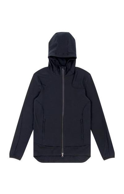 Imagination - Cotton Travel Hoodie in Black