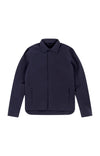 Possibilities - Wool Fleece Lined Shell Travel Jacket in Navy