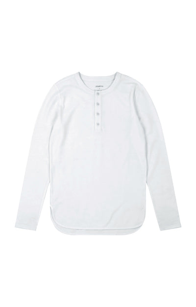Curiosity - Pique Henley in White