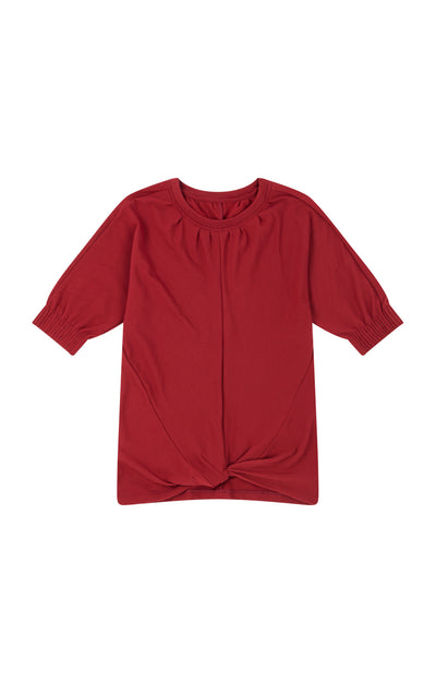 Majestic - Draped Travel Sweatshirt in Red Maple