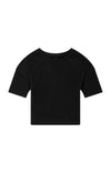 Integrity - Luxe Slouchy Cotton Tee in Black