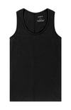 Spatial Purity - Luxurious Tank in Black