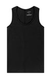 Spatial Purity - Luxurious Tank in Heather Black