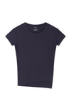 Simple Opulence - Asymmetric Long Slouchy Tee in Dark Blue