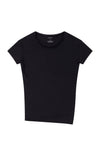 Simple Opulence - Asymmetric Slouchy Tee in Black