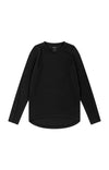 Enchant - Cotton Pique Long Sleeve in Black