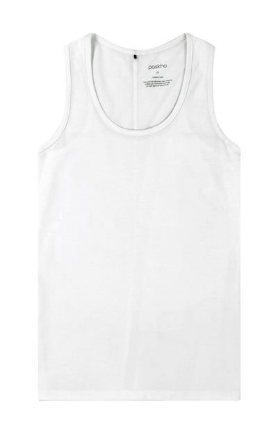 Absolute - Pique Tank in White