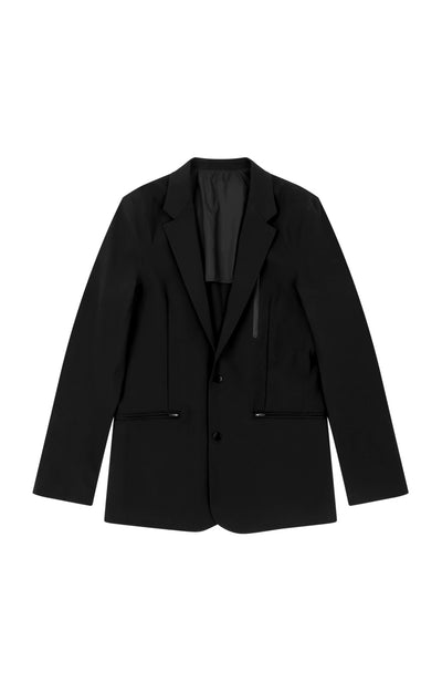 Individualist - The Boyfriend Tech Travel Blazer in Black