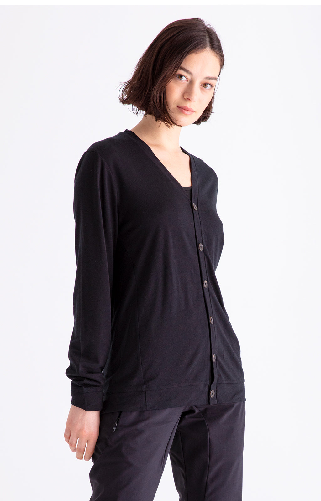 Monastic - Merino Travel Cardigan in Midnight