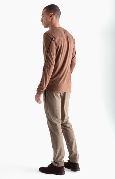 Artist - Merino Zip Pocket Long Sleeve in Coffee